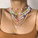retro daisy beads pearl heartshaped copper necklace wholesale Nihaojewelry NHXR407132