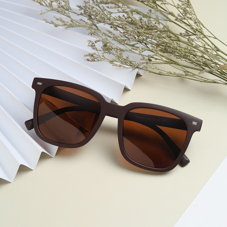 Vintage große quadratische große Rahmenfarbe Objektiv Sonnenschirm Sonnenbrille Großhandel nihaojewelry NHXU407188's discount tags