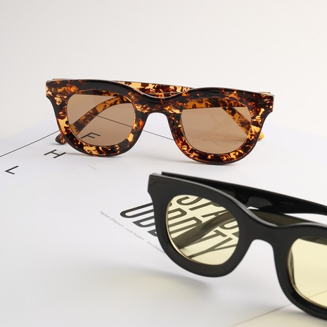 Mode runder Rahmen Leopard bunte Sonnenbrille Großhandel nihaojewelry NHXU407189's discount tags