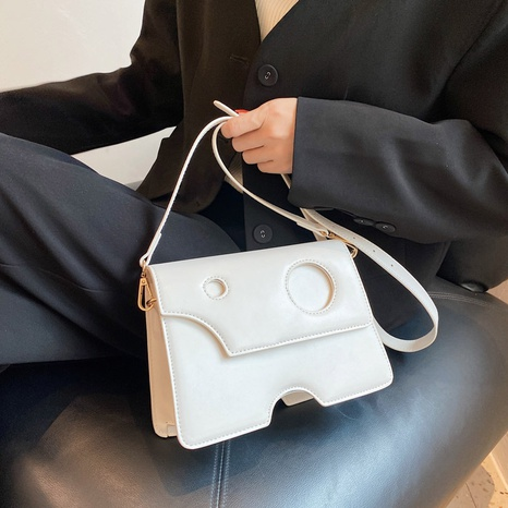 Korean simple solid color irregular one-shoulder diagonal bag wholesale nihaojewelry NHGN407259's discount tags