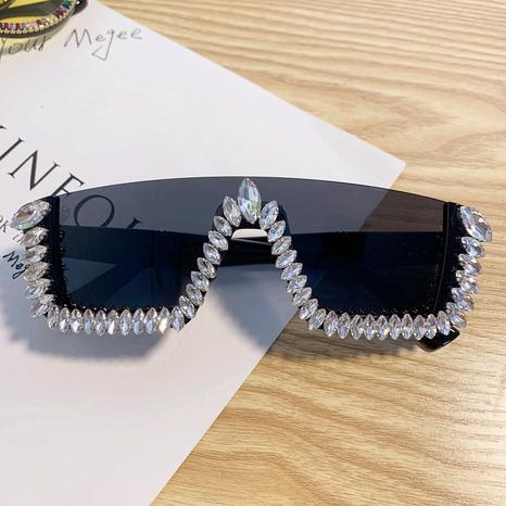 Mode rahmenlose eingelegte Strass-Sonnenbrillen Großhandel nihaojewelry NHMSG407311's discount tags