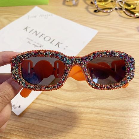 Mode-Sonnenbrille bunt eingelegte Strasssteine Großhandel nihaojewelry NHMSG407312's discount tags