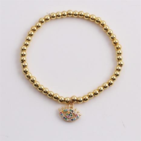 Nueva pulsera de ojos de diablo de perlas de cuentas de circonio de cobre al por mayor Nihaojewelry NHYL407470's discount tags