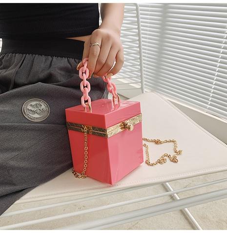 fashion clip box small jelly chain handbag wholesale nihaojewelry NHAV407566's discount tags