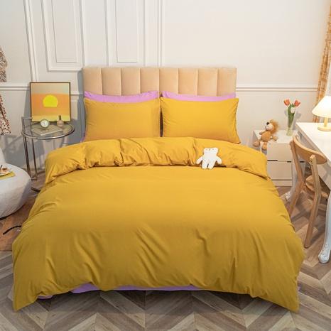 Orangefarbene gebürstete einfache Bettwäsche-Sets Großhandel Nihaojewelry NHMAR407753's discount tags