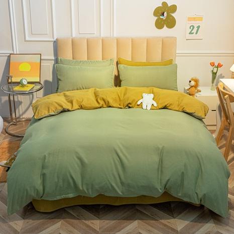 Reine Farbe grün gelb gebürstet einfache Bettwäsche-Sets Großhandel Nihaojewelry NHMAR407749's discount tags