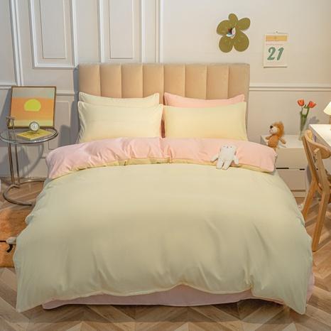 Hit Farbe einfache gebürstete Bettwäsche vierteilige Sets Großhandel Nihaojewelry NHMAR407750's discount tags
