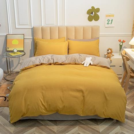 gelb einfarbig gebürstete Bettwäsche vierteiliges Set Großhandel Nihaojewelry NHMAR407743's discount tags
