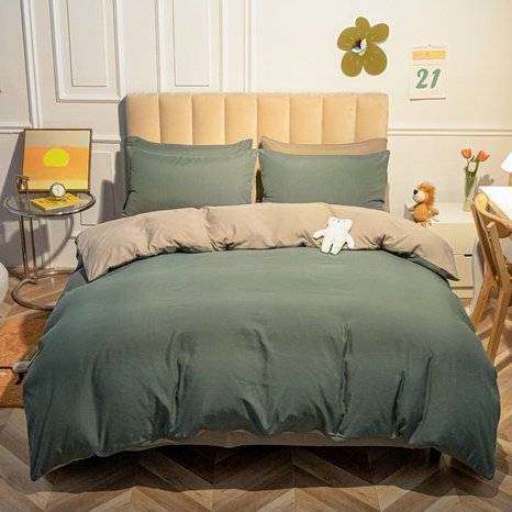 grüne Schlagfarbe einfache gebürstete Bettwäsche-Sets Großhandel Nihaojewelry NHMAR407744's discount tags