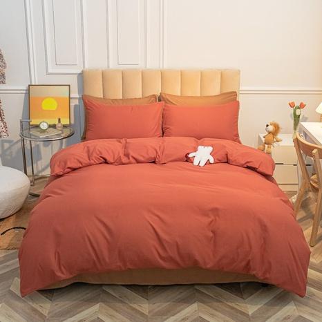 Reine Farbe gebürstete einfache Bettwäsche-Set Großhandel Nihaojewelry NHMAR407742's discount tags