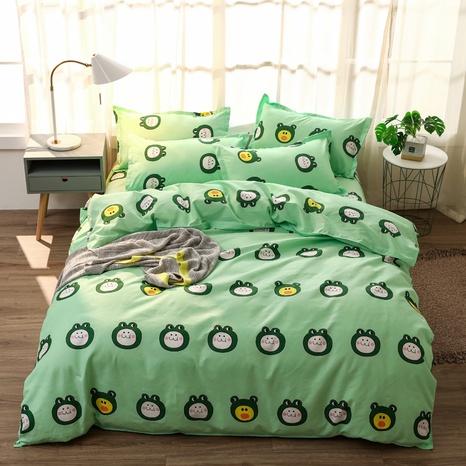 Großhandel niedlicher Cartoon-Froschdruck gebürsteter Bettbezug Bettwäsche-Set nihaojewelry NHMAR407762's discount tags