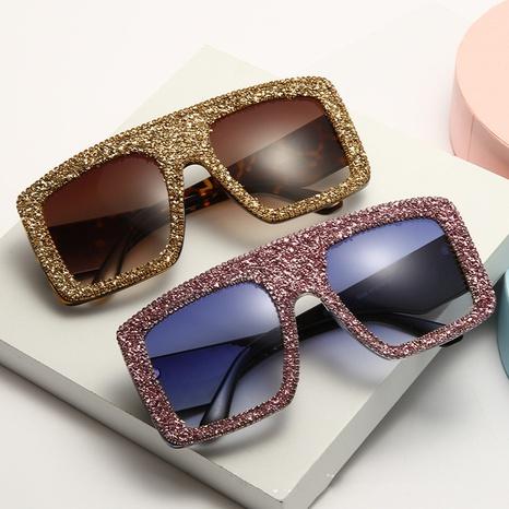 Mode Retro große Farbe Diamant eingelegte Sonnenbrille Großhandel nihaojewelry NHMSG407319's discount tags