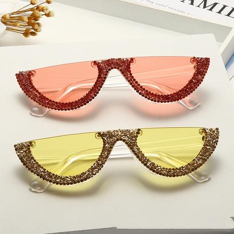 Mode Diamant Halbrahmen bunte Strass Sonnenbrille Großhandel nihaojewelry NHMSG407315's discount tags