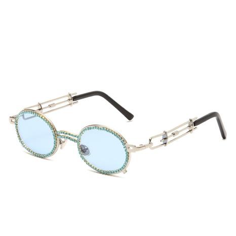 Mode Punk Metallrahmen Farblinse Sonnenbrille Großhandel nihaojewelry NHMSG407323's discount tags