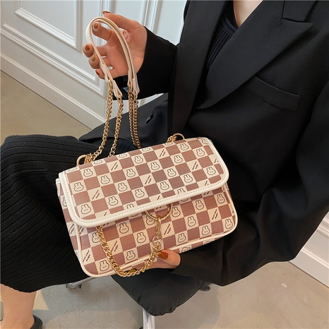wholesale hit color cartoon pattern messenger shoulder small square bag nihaojewelry  NHGN407884's discount tags
