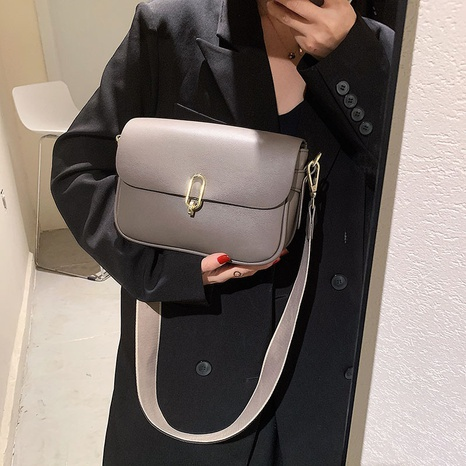 wholesale solid color buckle lock messenger small square bag nihaojewelry  NHGN407887's discount tags