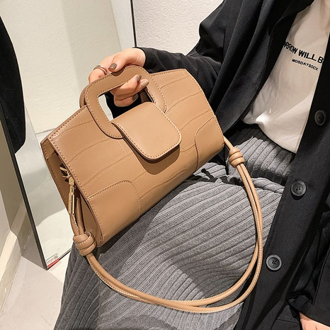 wholesale stone pattern solid color portable messenger small square bag nihaojewelry  NHGN407889's discount tags