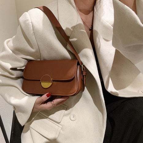 wholesale retro solid color messenger shoulder armpit small square bag nihaojewelry  NHGN407894's discount tags