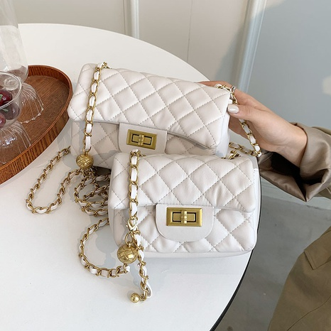 wholesale rhombus chain one-shoulder messenger small square bag nihaojewelry  NHGN407896's discount tags