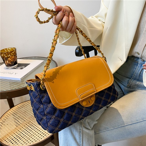 hit color chain rhombus one-shoulder casual handbags wholesale Nihaojewelry NHGN407898's discount tags
