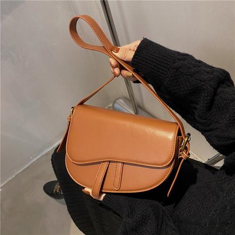texture retro messenger shoulder saddle bag wholesale Nihaojewelry NHGN407903's discount tags