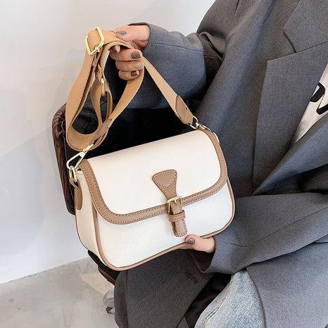 Retro style hit color buckle single shoulder messenger bag wholesale Nihaojewelry NHGN407910's discount tags