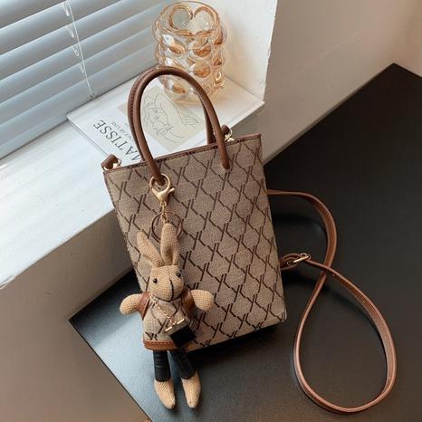 Mode Kaninchen kariertes Muster Schulter Eimer Tasche Großhandel nihaojewelry NHGN407913's discount tags