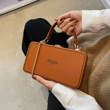 fashion letter printing shoulder messenger box bag wholesale Nihaojewelry NHGN407946's discount tags