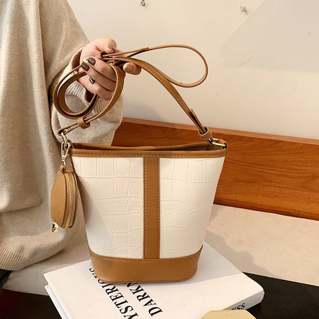 wholesale large capacity stone pattern shoulder bucket bag nihaojewelry  NHLH407972's discount tags