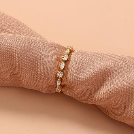 anillo de cobre de circón con incrustaciones simples de moda al por mayor nihaojewelry NHDB408224's discount tags