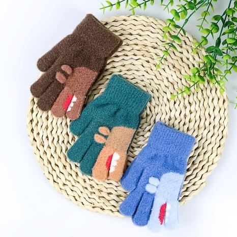 Winter Kinderhandschuhe Nachahmung Nerz Samt mehrfarbige Handschuhe Großhandel Nihaojewelry NHDM408408's discount tags