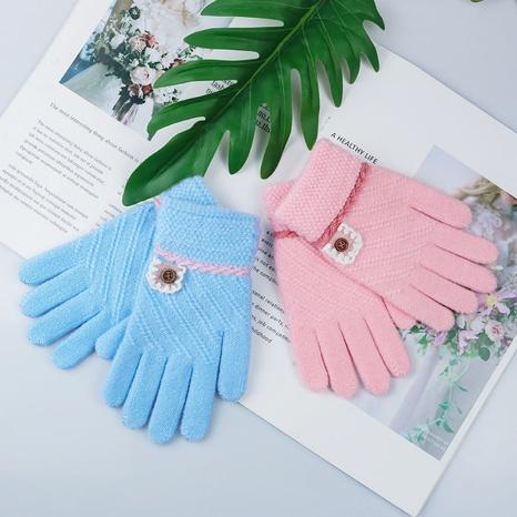 Mode Kinder Jacquard Split Finger Kinderhandschuhe Großhandel Nihaojewelry NHDM408413's discount tags