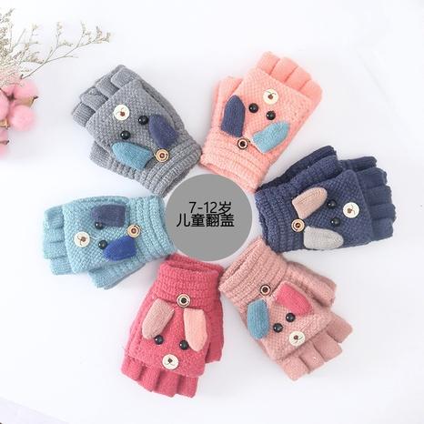 einfache halbe Finger Clamshell warme gestrickte Kinderhandschuhe Großhandel Nihaojewelry NHDM408426's discount tags