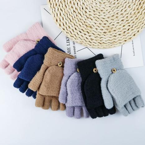 fashion solid color half-finger imitation mink velvet gloves wholesale Nihaojewelry  NHDM408444's discount tags