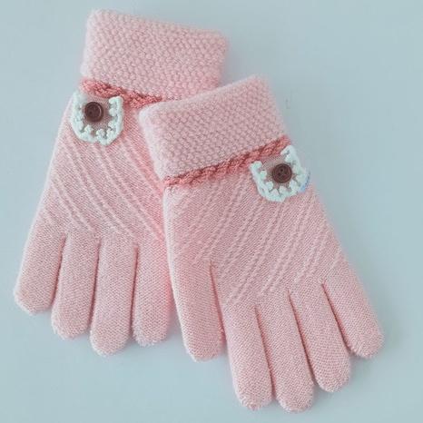 Niedliche gestrickte Jacquard-Kinderhandschuhe mit Fingerzeig Großhandel Nihaojewelry NHDM408451's discount tags