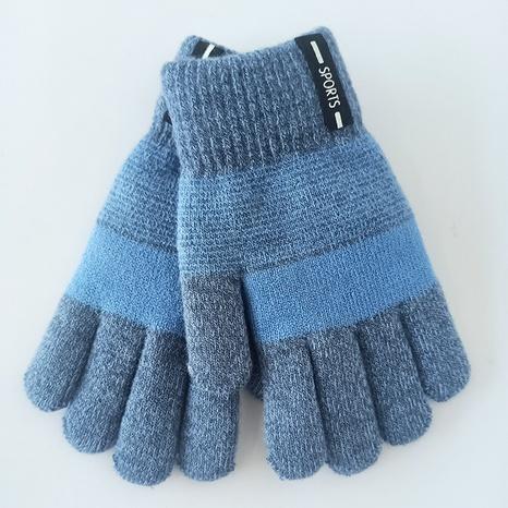 Gestreifte Dicken Plus Samt Warme Handschuhe Großhandel Nihaojewelry NHDM408452's discount tags