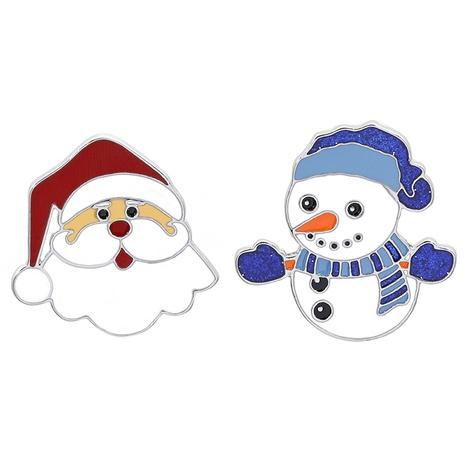 Großhandel Schmuck Weihnachtsmann Schneemann Brosche nihaojewelry NHCU408467's discount tags
