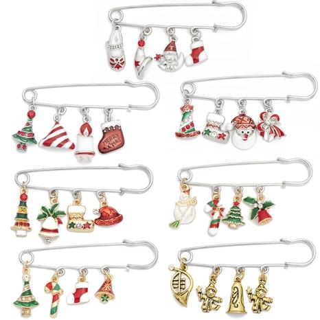 Großhandel Schmuck Weihnachtsbaum Weihnachtsmann tropft Öl Anhänger Brosche nihaojewelry NHCU408474's discount tags
