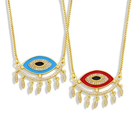 collar de cobre con colgante de ojo de diablo retro al por mayor Nihaojewelry NHAS408810's discount tags