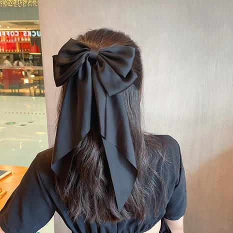 Horquilla de cinta larga floral con lazo grande coreano al por mayor Nihaojewelry NHOF408860's discount tags