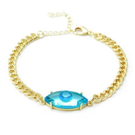 bisutería mayoreo color cristal ojo del diablo cobre con incrustaciones de circón pulsera nihaojewelry NHWV409204's discount tags