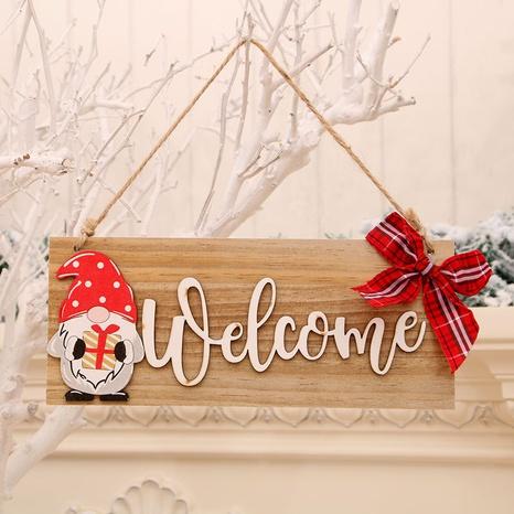 Neue Weihnachtsholztür hängender Brief gesichtslose Dekoration Großhandel Nihaojewelry NHMV409370's discount tags