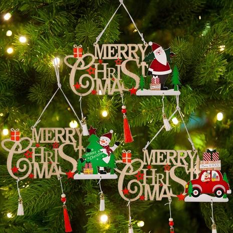 Grenzüberschreitendes neues Produkt Weihnachtsdekoration Holz hohle Quaste Buchstabe Marke Merry CHRISTMAS Christbaumschmuck NHHB409390's discount tags