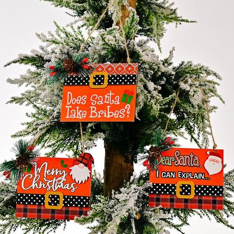 Großhandel Weihnachtsmann druckt hölzernen Weihnachtsanhänger nihaojewelry NHHB409392's discount tags
