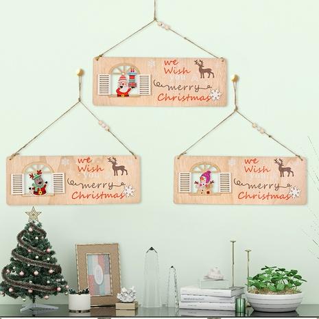 Großhandel hölzerne quadratische fenster weihnachtsanhänger nihaojewelry NHHB409393's discount tags
