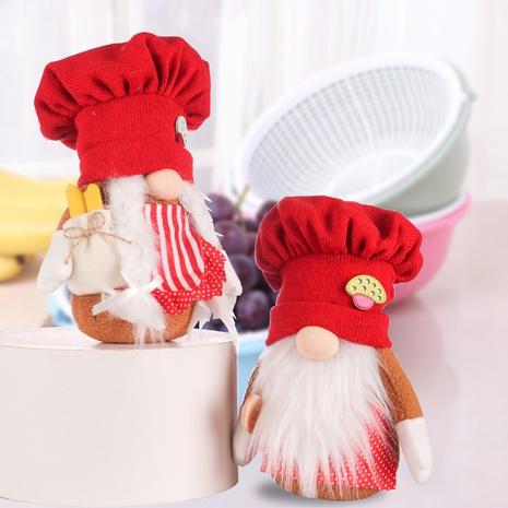 Großhandel rote gestrickte Kochmütze Rudolph Puppe Weihnachtsdekoration Nihaojewelry NHHB409423's discount tags