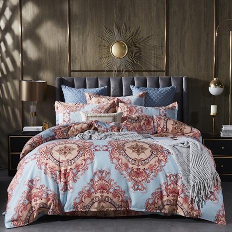 Großhandel geometrischer Totemdruck gebürsteter Bettbezug Bettwäsche-Set nihaojewelry NHDYJ409743's discount tags