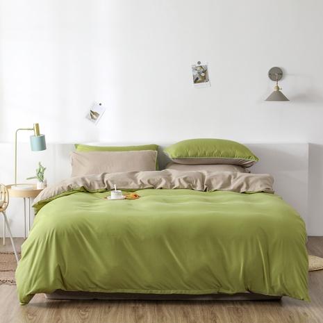 einfache reine Farbe gebürstete Bettwäsche Bettbezug dreiteilig Großhandel Nihaojewelry NHBOM409467's discount tags