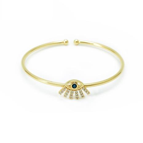 Al por mayor joyería diablo ojo cobre con incrustaciones de circón pulsera nihaojewelry NHWV409092's discount tags