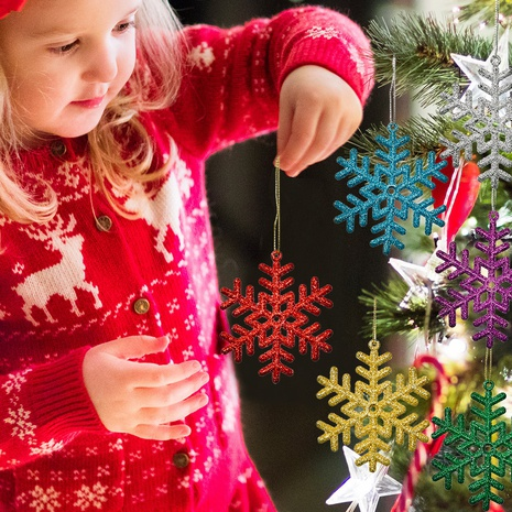 Christmas snowflake flakes 6-color tree decoration wholesale Nihaojewelry NHHB410067's discount tags